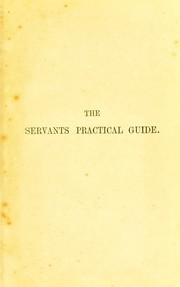 Cover of: The servants practical guide | University of Leeds. Library