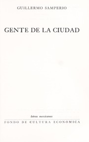 Cover of: Gente de la ciudad