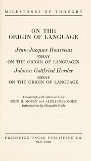 Essay On Health Cover Of On The Origin Of Language Jeanjacques Rousseau Essay On Essay With Thesis Statement Example also Custom Term Papers And Essays On The Origin Of Language Jeanjacques Rousseau Essay On The  Essay Of Health