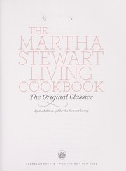 Cover of: The Martha Stewart living cookbook. |
