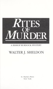 Cover of: Rites of murder : a Bishop Burdock mystery |