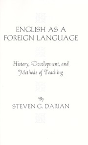 Cover of: English as a foreign language