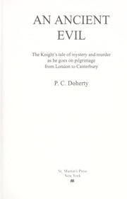 Cover of: An ancient evil