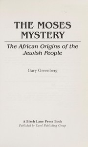Cover of: The Moses mystery by Greenberg, Gary