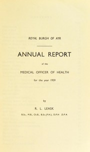 Cover of: [Report 1959] | Ayr (Scotland). Burgh Council