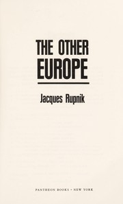 The other Europe by Jacques Rupnik