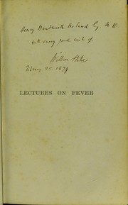 Cover of: Lectures on fever