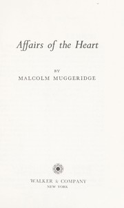 Cover of: Affairs of the Heart