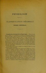 Cover of: Physiologie