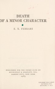 Cover of: Death of a minor character