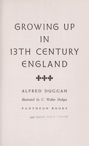 Cover of: Growing up in 13th century England