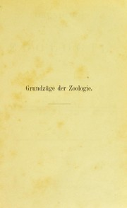 Cover of: Grundz©ơge der Zoologie