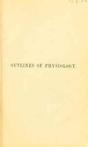 Cover of: Outlines of physiology