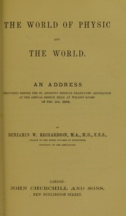 Cover of: The world of physic and the world