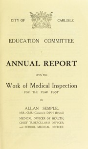Cover of: [Report 1937]