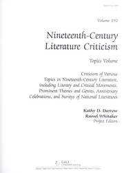 Cover of: Nineteenth Century Literature Criticism |
