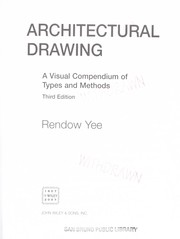 Cover of: Architectural drawing | Rendow Yee
