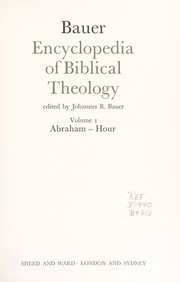 Cover of: Encyclopedia of biblical theology