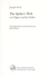 Cover of: The Spider's Web and Zipper and His Father