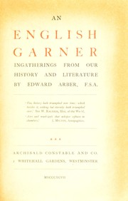 Cover of: English garner