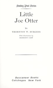 Cover of: Little Joe Otter