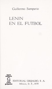Cover of: Lenin en el futbol