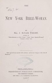 Cover of: The New York Bible-woman