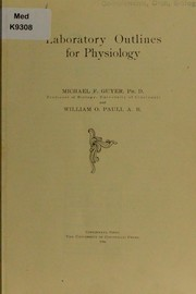 Cover of: Laboratory outlines for physiology