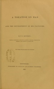 Cover of: A treatise on man and the development of his faculties