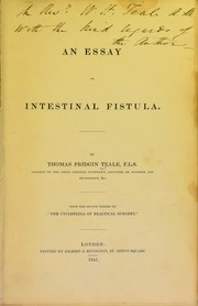 Cover of: An essay on intestinal fistula