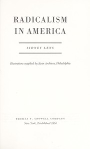 Radicalism in America by Sidney Lens