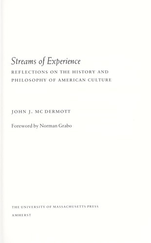 Streams of experience by McDermott, John J.
