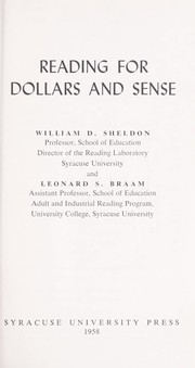 Cover of: Reading for dollars and sense | William D. Sheldon