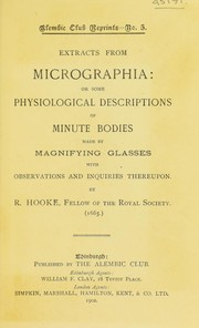 Cover of: Extracts from Micrographia