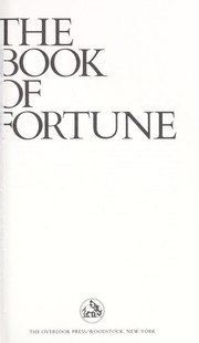 Cover of: The book of fortune : poems |