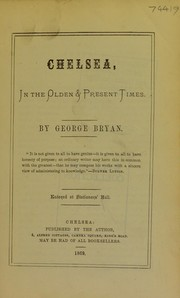 Cover of: Chelsea in the olden & present times