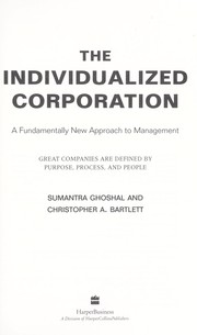 Cover of: The individualized corporation