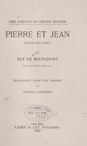 Cover of: Pierre et Jean (Peter and John)