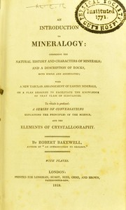 Cover of: An introduction to mineralogy