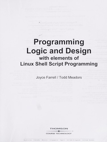 Programming logic and design by Joyce Farrell