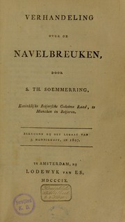 Cover of: Verhandeling over de navelbreuken