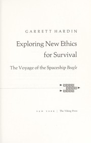 Cover of: Exploring new ethics for survival