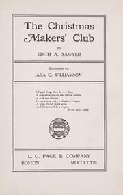 Cover of: The Christmas makers' club