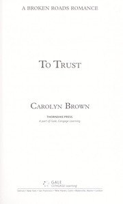 Cover of: To trust