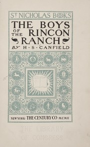 Cover of: The boys of the Rincon ranch