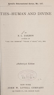 Cover of: Ties--human and divine | B. L. Farjeon
