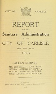 Cover of: [Report 1943] | Carlisle (England). City Council