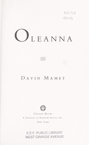 Cover of: Oleanna | David Mamet