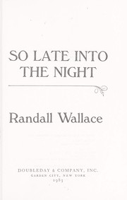 Cover of: So late into the night