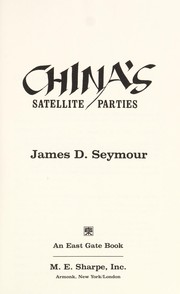 Cover of: China's satellite parties